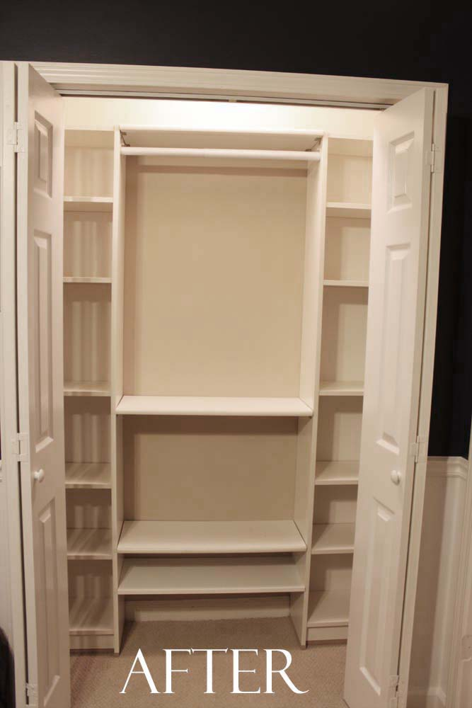 Our Under 100 IKEA Hack Closet Makeover