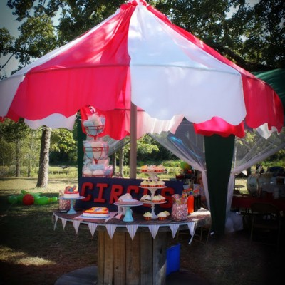 DIY Carnival Party Big Top Tent