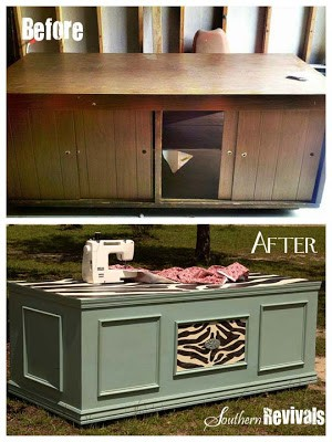 Becoming Beauty ~ A Sewing Cabinet Revival