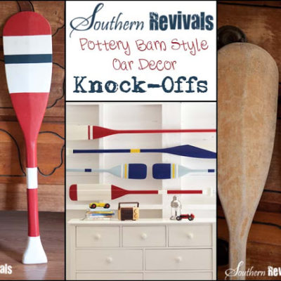 Pottery Barn Style Oar Decor Knock-offs
