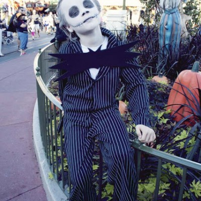 Walmart Costume Upcycle | From Gangster to Jack Skellington #Halloween #DIY #costume #Disney #JackSkellington SouthernRevivals.com