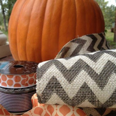 Easy Breezy Halloween Decor with Chevron Burlap