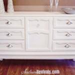 Vintage 1970's Dresser Becomes Modern BuffetA Dresser Revival