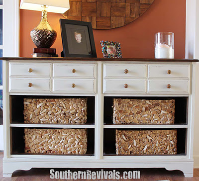 Vintage Dresser Turned Pottery Barn Style Storage A Dresser Revival
