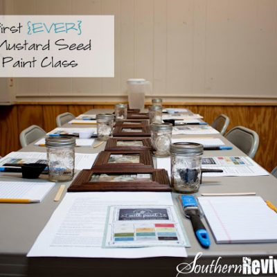 My First {EVER} Milk Paint Class A Teaching Revival