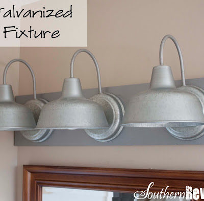 DIY Galvanized Light Fixture Tutorial My First Lil Luna Post