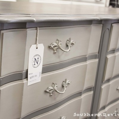For the Love of Two Grays   Two-toned Gray Dresser