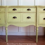 Updating A Vintage Sideboard Buffet with A Pop of Color