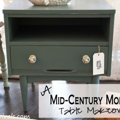 Mid Century Moden Side Table Makeover With A Twist