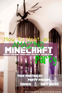 DIY Minecraft Party Part 2 | The Supply List & FREE Printables