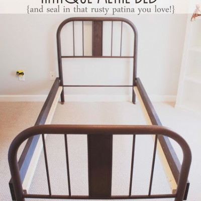 How to Make a Frame for an Antique Metal Bed | And Seal-in a Rusty Patina