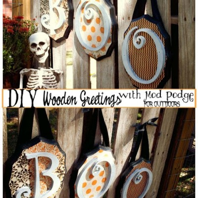 DIY Wooden Halloween Greetings