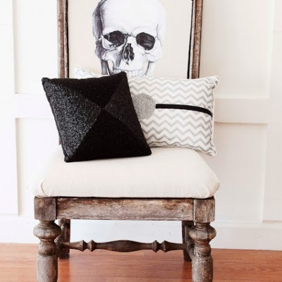 "DIY Halloween Skeleton Skull Chair | A Fun Upcycle for a ""Ruined"" Chair"
