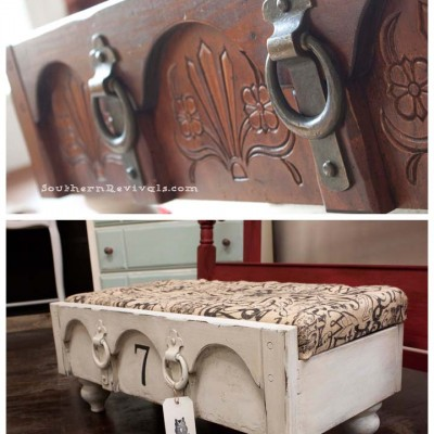 From a Chest of Drawers to a Drawer Ottoman A Drawer Revival