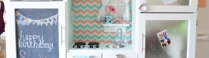 Southern Revivals | Repurposed Entertainment Center Turned Play Kitchen