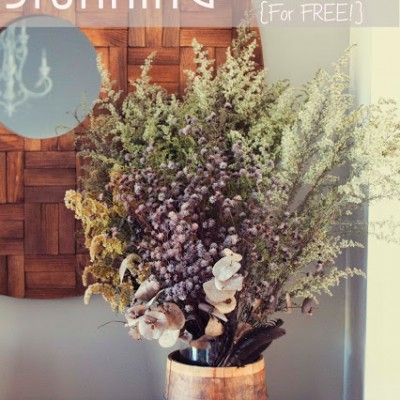 DIY Gorgeous Fall Flower Arrangements for Absolutely FREE