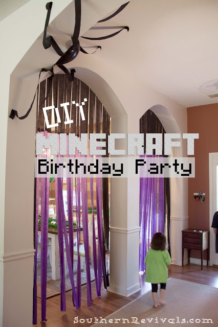 DIY Minecraft Birthday Party