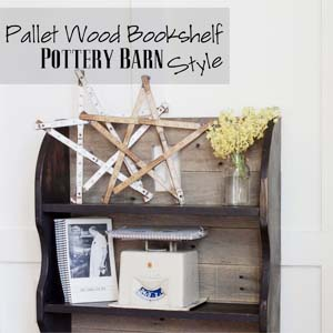 Pottery Barn Pallet Wood Bookshelf