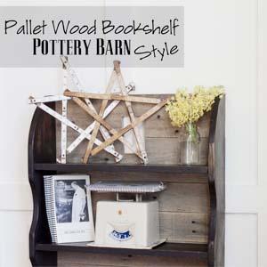 Pottery Barn Pallet Wood Bookshelf
