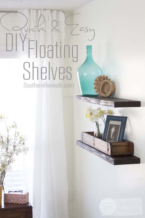 Quick Easy Budget Friendly DIY Floating Shelves Enchanting Easy To Install Floating Shelves