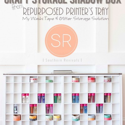 DIY Craft Storage Shadow Box from Repurposed Printer's Tray