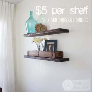 Southern Revivals | Cheap & Easy DIY Floating Shelves
