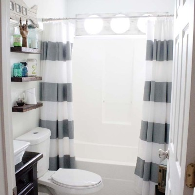 Nautical Guest Friendly Boys Bathroom Makeover Reveal