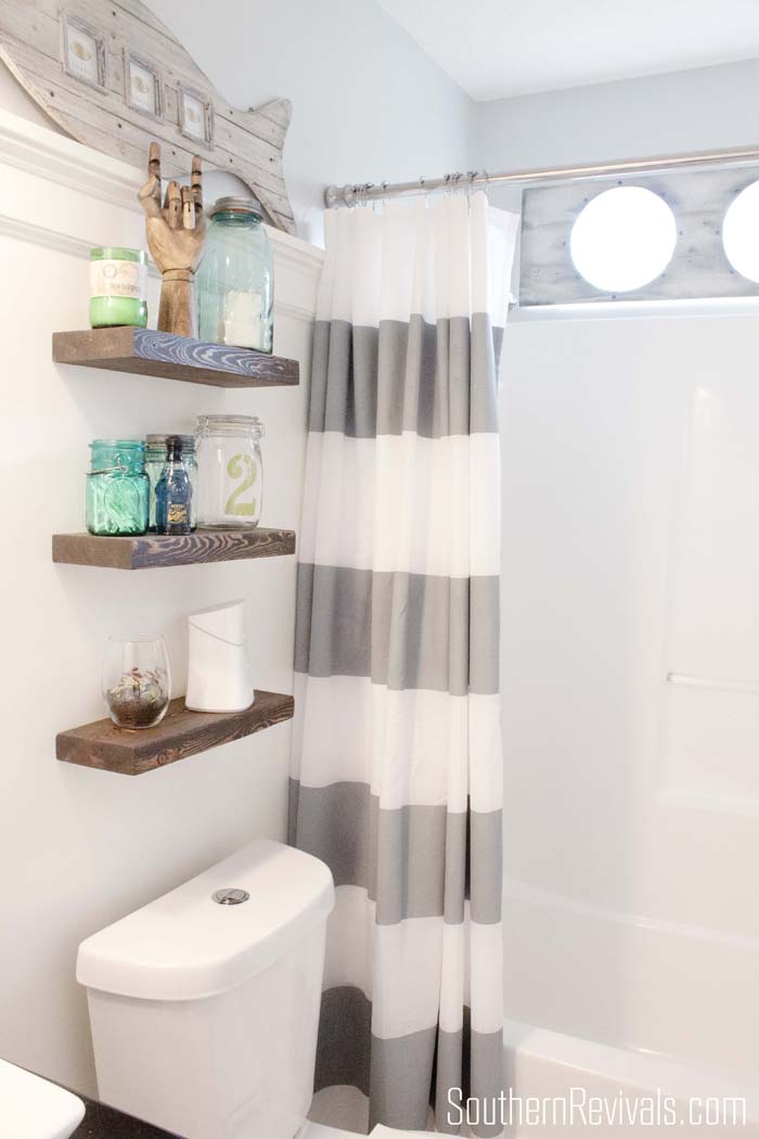 Trend Nautical Bathroom Makeoverl