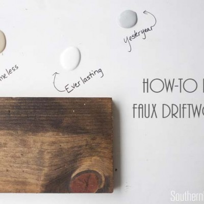 Faux Driftwood Restoration Hardware Inspired Paint Finish Tutorial