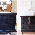 Turning Our Nightstand into Our Bathroom Vanity | Americana® Decor Chalky Finish Paint Review