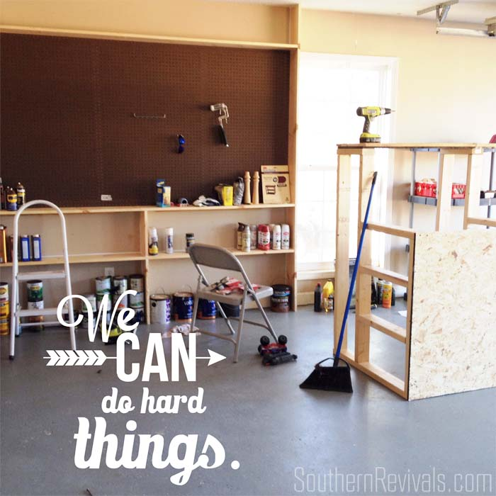 Garage Organization with Rubbermaid Fast Track | Getting Our Garage Clutter Under Control