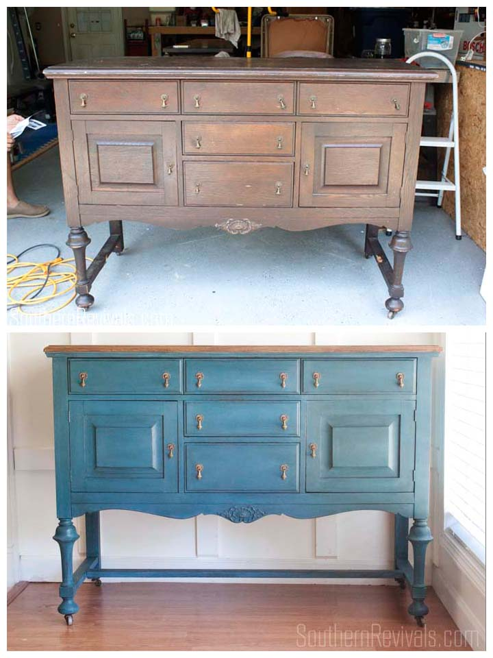 Making Over An Antique Sideboard Buffet The Client Files  : Antique Sideboard Makeover Before After from www.southernrevivals.com size 720 x 960 jpeg 102kB
