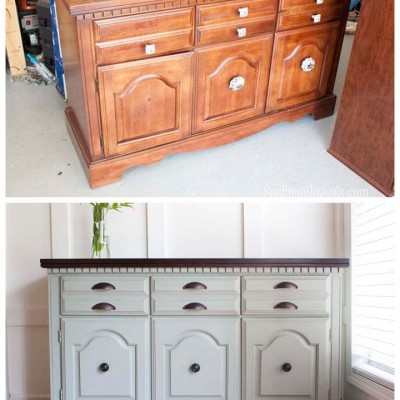 Client Files | Vintage Sideboard Buffet Dresser Makeover