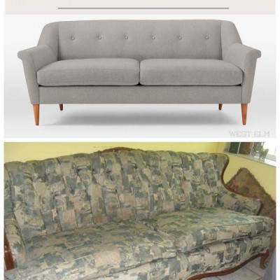 Deciding on A Brand New Sofa or an Old Sofa Made New? #reupholstery #furnituremakeover #sofa #couch