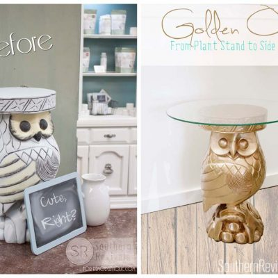 How to Turn A Plant Stand Into A Gorgeous Side Table | The Gilded Owl