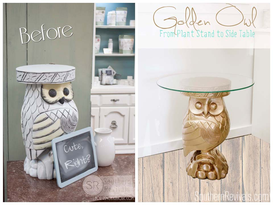 How to Turn A Planter Into A Side Table #owl #repurpose #upcycle