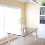 Tile Top Makeover | DIY Wood Herringbone Table #tablemakeover #furnituremakeover #diy SouthernRevivals.com