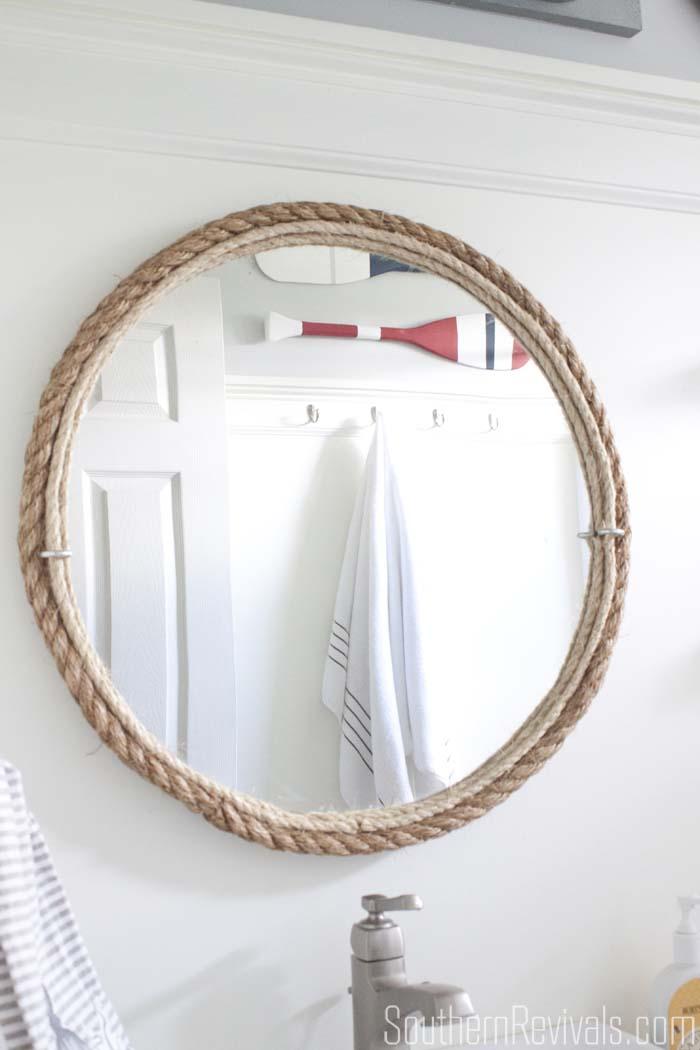 Diy Rope Mirror Tutorial Nautical
