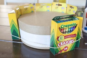School Supplies Cake | A Teacher's Gift They'll Really Use #backtoschool #crafts #teachersgifts SouthernRevivals.com