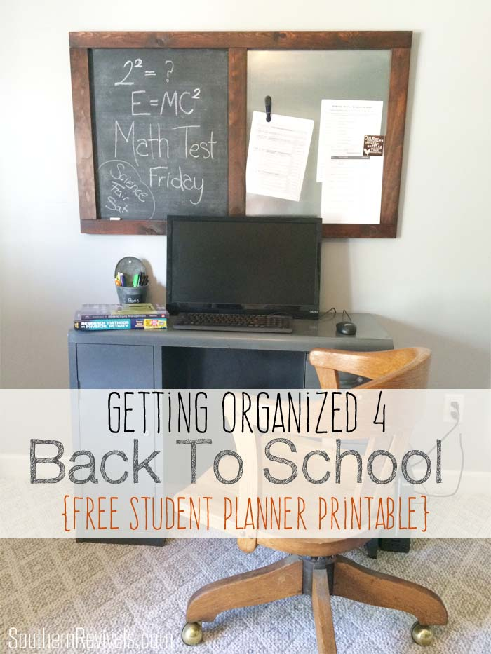 Getting Organized for Back To School | Free Student Planner Printable #BacktoSchool #FreePrintable #SouthernRevivals SouthernRevivals.com