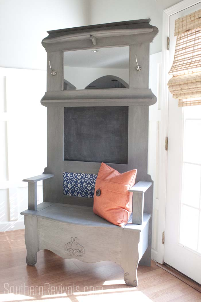 Old Hall Tree Bench Gets A Makeover Southern Revivals