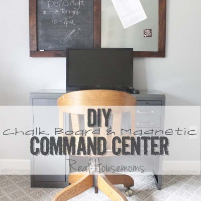 DIY Message Board + Command Center | Back To School #chalkboard #backtoschool #SouthernRevivals SouthernRevivals.com