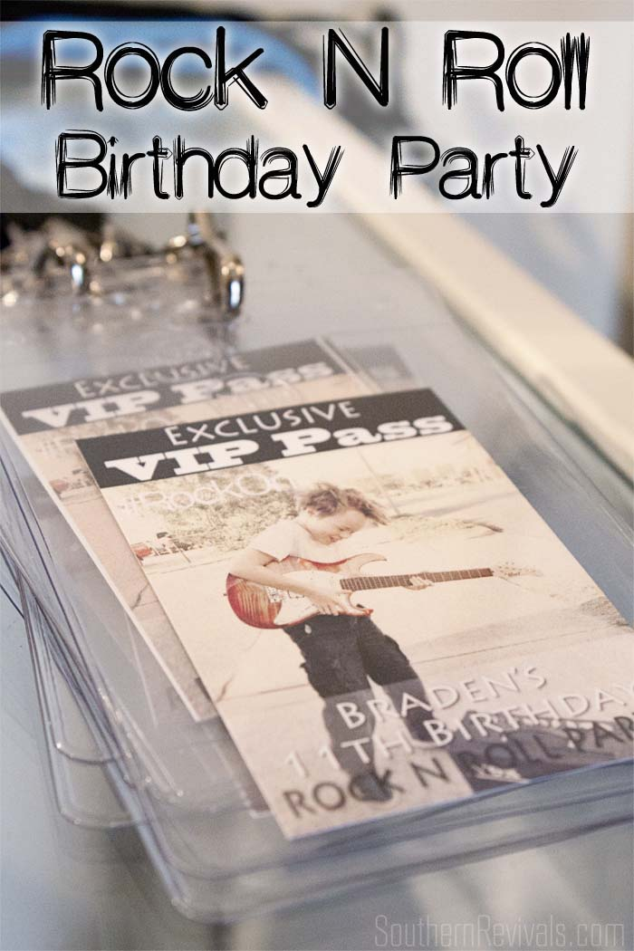 Rock N Roll Birthday Party rocknroll birthday