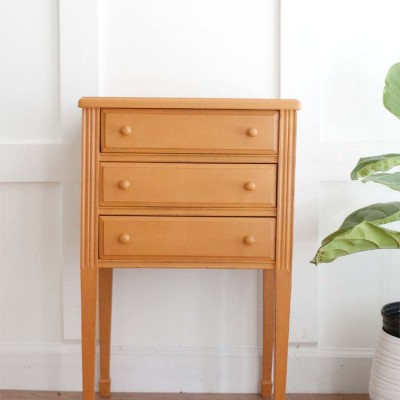 Sewing Cabinet to Bedside Table Makeover #paintedfurniture #tablemakeover #furnituremakeover