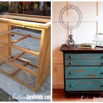 Vintage Chest of Drawers Revived with a Shipping Pallet | A Chest of Drawers Revival