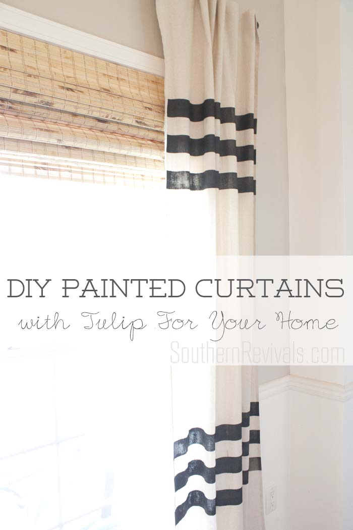 Lessons in Painted Fabric | DIY Painted Curtains #paintedcurtains SouthernRevivals.com
