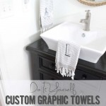 DIY Custom Monogram + Graphic Towels | West Elm Knock Off