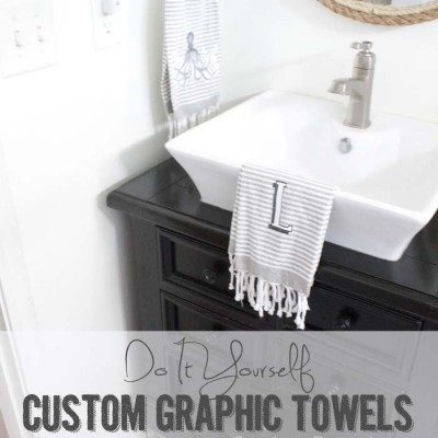 DIY Custom Graphic and Monogram Towels | West Elm Knockoff #westelm #knockoff SouthernRevivals.com