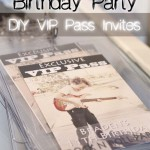 DIY Rock N Roll Party Exclusive VIP Pass Invites