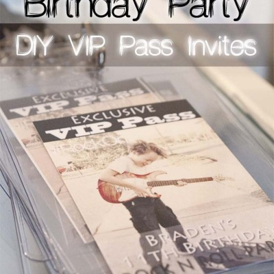 DIY VIP Pass Rock N Roll Birthday Party Invitations #rocknroll #birthdayideas #partyideas SouthernRevivals.com